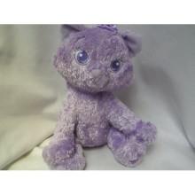 Juguete de felpa de gato púrpura