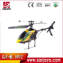 V912 2.4G 4ch rc helicóptero v912 actualización sola hélice grande 52 cm radio control solo tornillo