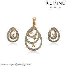 64197 fabrik directe großhandel mode zarte türkischen stil diamant vergoldet schmuck-sets