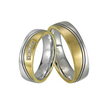 CNC Engraving Groove High End Steel Jewellery with Gold Plated
