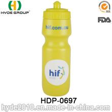 Botella corriente plástica libre del deporte de 2017 promociones BPA, botella de agua plástica del deporte del PE (HDP-0697)