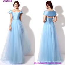 Vestido de dama de honor de vestido largo de noche de diseños clásicos al por mayor de la manera