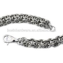 Мода высокого качества металла из нержавеющей стали цепи Maille браслет