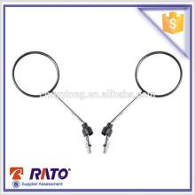 Fábrica chinesa preço direto motocicleta preto espelho retrovisor com alta qualidade