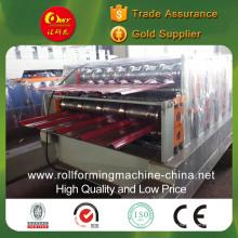 Máquina formadora de rolos de telhas de aço coloridas de camada dupla para diferentes painéis de cauda de canoa