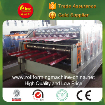 Double Layer Color Steel Tiles Roll Forming Machine for Different Dovetail Panels