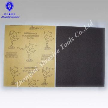papel de lija abrasivo a prueba de agua de alta calidad y buen precio 23 * 28 cm