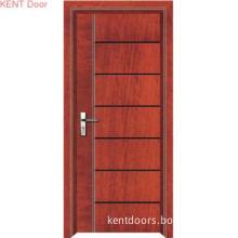 W9119 Is Simple Design, Deep Groove, Wood Door, Flush Door