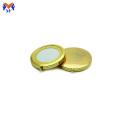 Espelho de maquiagem de pacote dobrável de metal personalizado ouro