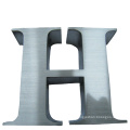 Brushed Polished Eletroplated Plated Non-Illuminated Metal Stainless Steel 3D Logo Letter Sign