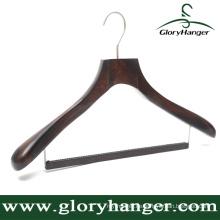 Für Fashion Display Deluxe Holz Anzug Kleiderbügel mit Locking Bar
