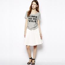 Venta al por mayor de la fábrica de la camiseta de la impresión de las mujeres coloridas calientes para el verano