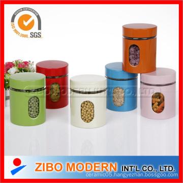 Colored Food Jar