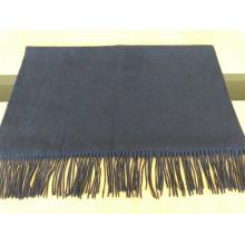 2016 wool plain dark blue shawl