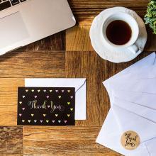 Открытки подарка печатания OEM изготовленные на заказ оптовые спасибо с конвертом