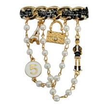 Broche de joyería de fantasía de moda nuevo estilo 2016
