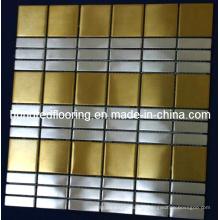 Настенная плитка из нержавеющей стали Металлическая мозаика (SM216)