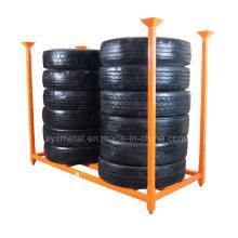"92"" X 40"" TBR Truck Tire Stacked Storage Rack"