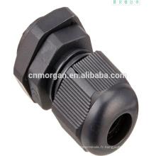 connecteur de câble de glandes de câble en nylon imperméable de pg21 avec UL94-V0, approbation de la CE, disponible en couleurs noires et blanches