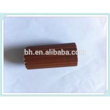 Hangzhou Baihong 35mm Round Wood Fluted Pole In Dark Walnut