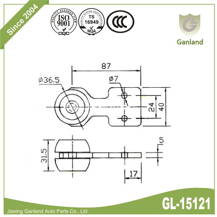 plastic wheel roller gl-15121