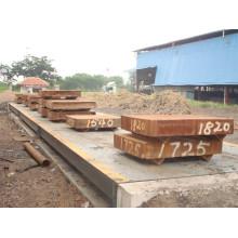 3*16 M 80 Ton Electronic Weighbridge Truck Sacle