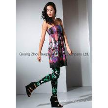 Women Knit Floral Print Top sans bretelles