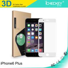 Protetor de vidro moderado Asahi da tela do carbono da fibra do carbono de 0.2mm para iPhone6 / 6plus