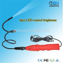 4 diodo emissor de luz ilumina o endoscópio de inspeção portátil de USB Digital