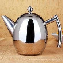 Ménage grande capacité 0,75 L / 1,8l bouilloire en acier inoxydable café goutte à goutte
