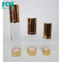 15ml 20ml 50ml PETG Transparent en plastique rond 30ml bouche sans air bouteille de fondation cosmétique