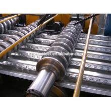 Rápida de alta velocidad sin parar de metal de acero Deck Roll formando la máquina