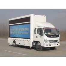 Foton mini levou caminhão móvel para venda, 4 * 2 conduziu caminhão palco móvel
