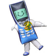 Inflatable Walking Cartoon Mobile Phone Shaped for Special Events