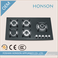 Tempered Glass Five Burners Gas Hob Gas Stove