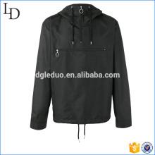 Sweats zippés à capuche en polyester noir avec un zip à capuche pour les hommes