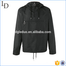 Polyester sport black hoodies half zip up hooded sweatshirt for men