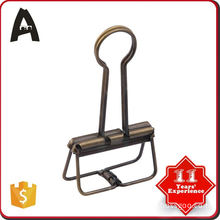 On-time delivery factory supply gold color 32mm binder clip