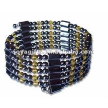 "Magnetic Citrine Beaded Wrap Bracelets & Collier 36 """