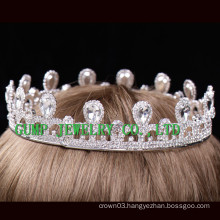 hot sale metal tiara birthday girl rhinestone crown