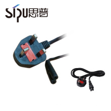 SIPU hot sells UK 2pin assembled plug power cord 2 pin ac power cord plug