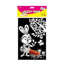 DIY criativo Páscoa Pássaro fuzzy poster coelhinho e árvore para crianças