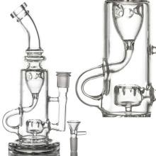 Circ Perc Incycler Tuyau d'eau pour fumée avec bol (ES-GB-090)