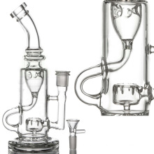 Circ Perc Incycler Water Pipe for Smoke with Bowl (ES-GB-090)
