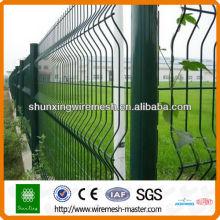 Высококачественное стальное сварное ограждение из проволочной сетки (покрытое ПВХ и горячее цинкование)