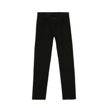 Pantalon cargo en sergé de coton noir Pandex pour homme