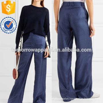 Melancholy Polka-dot Silk Wide-leg Pants Manufacture Wholesale Fashion Women Apparel (TA3023P)