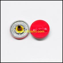 Botão de pressão de forma bowknot em material de liga de zinco