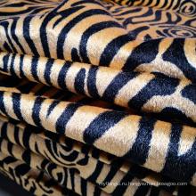 Трикотажная ткань для углового дивана из бархата с принтом