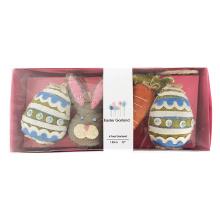 Huevo de Pascua y conejito bandera de bunting 3D